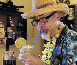 """Rum connoisseur interview of the week:  JEFF """"BEACHBUM"""" BERRY  Auther, Tiki Expert, Historian and Owner of Beachbum Berry's Latitude 29"""